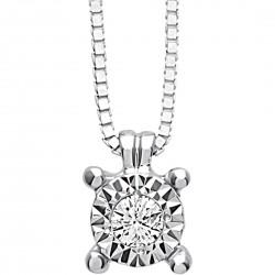 Collana Bliss rugiada 20069880 Oro Bianco Diamante