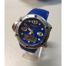 Orologio Uomo Vagary  Diver Blu Silicone Alarm