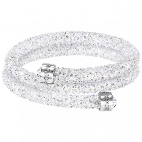 Swarovski Crystaldust White Bracciale Double 5255900 Donna yvY7bfg6